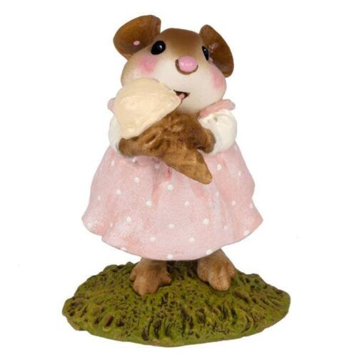 Wee Forest Folk M-277 Yummy! Soft Pink Dress with Vanilla Ice Cream RETIRED