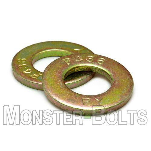 7//16 F436 Structural Flat Washers Zinc Yellow 1//4 9//16 5//8 3//4 5//16 1//2 3//8