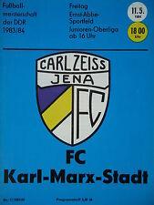 Programm 1983/84 FC Carl Zeiss Jena - Karl Marx Stadt