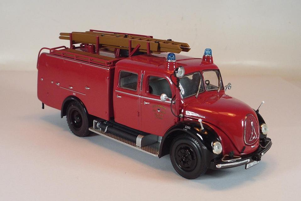 Minichamps (PMA) 1 43 Margirus Deutz Merkur TLF 16 Feuerwehr Ulm OVP  759