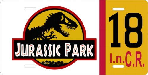 """Jurassic Park Car Jeep Tag License Plate Movie Prop Reproduction 12/"""" x 6/""""   #18"""