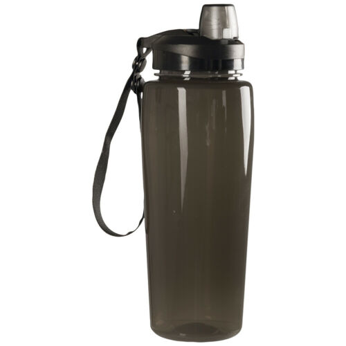Mil-Tec Transparent Bottle 600ml Travel Water Hydration Sport Spout Hiking Smoke