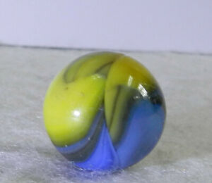 #11460m Vintage Akro Agate Ingot Marble .71 Inches