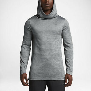 bb2ebe6e7133 Image is loading AUTHENTIC-NIKE-ELITE-DRI-FIT-PULLOVER-GREY-BASKETBALL-