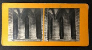 Vintage-Stereo-View-Stereoscopic-Photo-A63-FR-Mont-St-Michel-Pillars