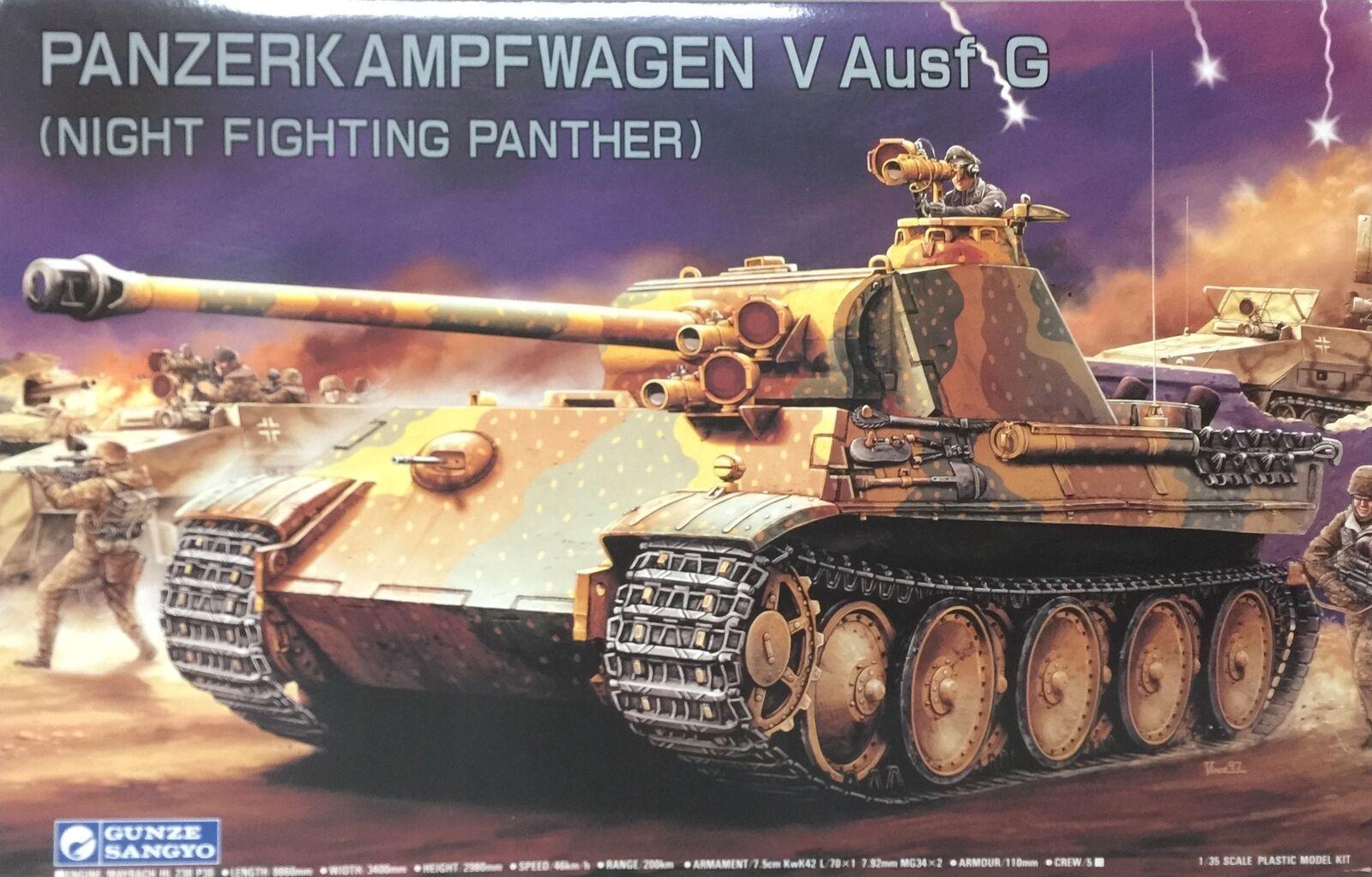 Gunze Sangyo Panzerkampfwagen V Ausf G Night Fighting Panther Ref 782 Escala 1 3