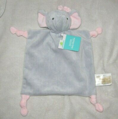 DanDee Pink Gray Easter Elephant Toy Security Blanket Lovey Rattle Baby Knotted