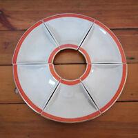 Vintage 1960 ROYAL COPENHAGEN Aluminia Faience DENMARK Oranja Tureby Lazy Susan