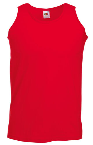 FRUIT OF THE LOOM PLAIN RED 100/% COTTON VEST TANK TOP