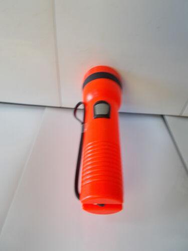 "2 Two Uses 2 /""D/"" size batteries Garrity Orange Flashlights NJ14-1"