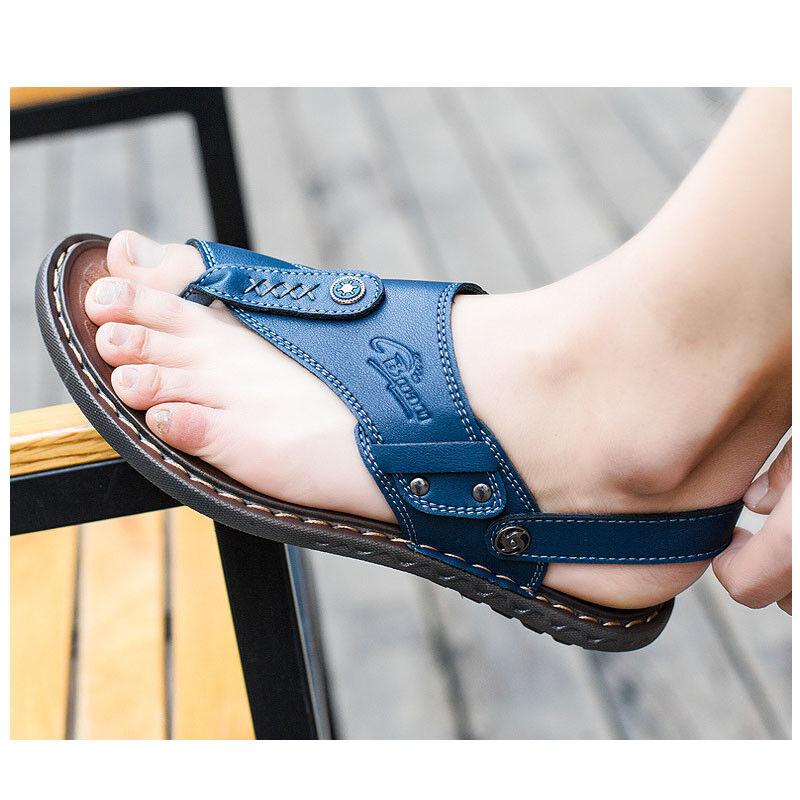 Men Leisure Summer Flat Flip Flops Shoes Clip Toe Fashion Sandals Beach Slippers