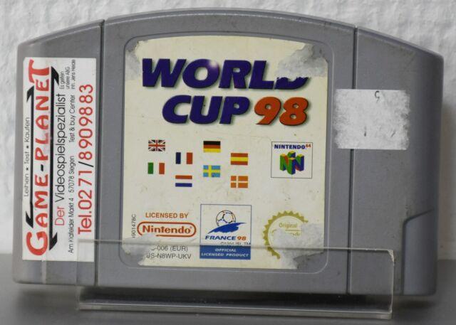 World Cup 98 PAL Nintendo 64 N64 1998 Sport Fußball  Einkaufgp