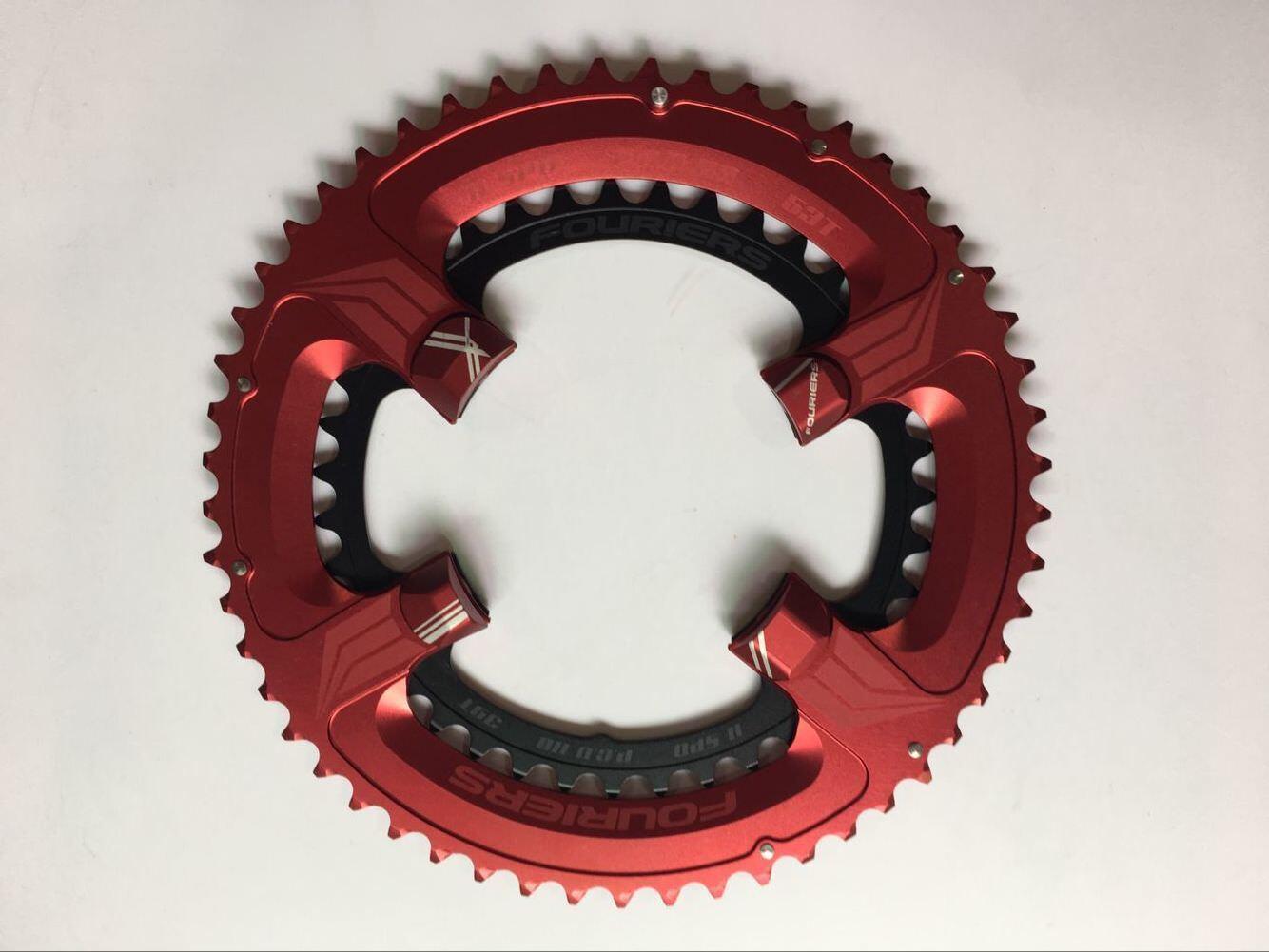 Bicicleta de Doble fouriers BCD110 36 T 52 T Plato Para Shimano 5800 ut 6800 Manivela Rojo