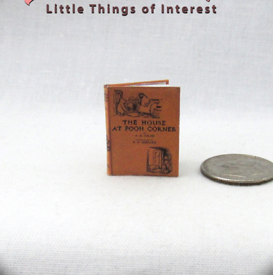 Abile The House At Pooh Corner Miniatura Libro Casa Delle Bambole 1:12 Scala Smoothing Circulation And Stopping Pains