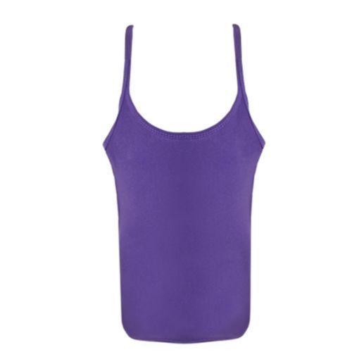 Donne Ragazze Neon Elasticizzato Lycra Vest Tops Casual Dance Party Tutu Vest Tops
