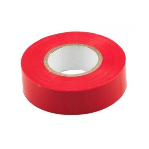 1x Rouge Électrique PVC Isolation Ruban 18 Mm Professionnel x20m 19 flammes