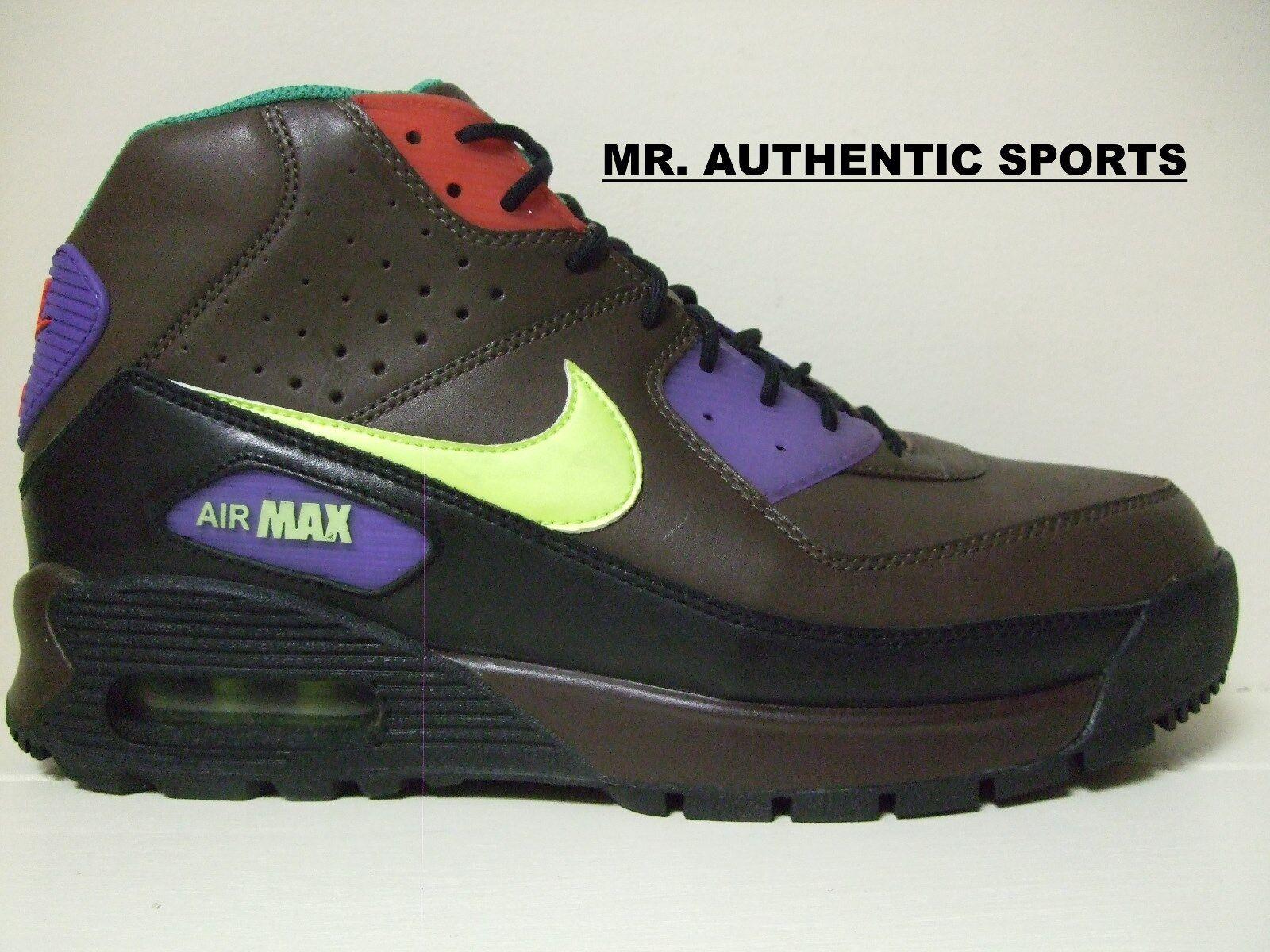 Nike botas Air Max 90 zapatilla botas Nike cuero marron confortable gran descuento aa7f4e