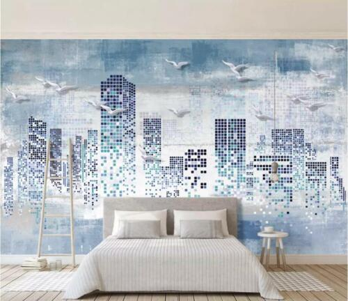 Details about  /3D Building Pattern I2812 Wallpaper Mural Sefl-adhesive Removable Sticker Wendy