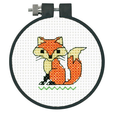 1x Printed Tapestry Thread Canvas Fox Sewing Craft Tool Hobby Art UK
