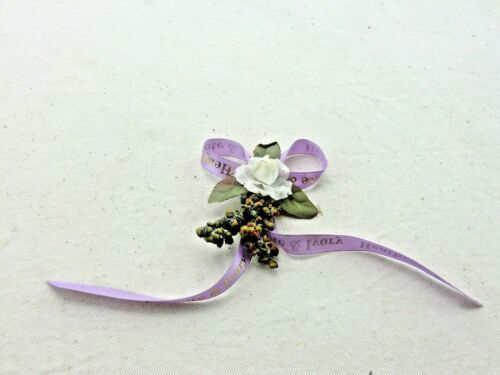 Perfect for craft//scrapbooking Heathcote /& Ivory Lilac Flower Ribbons etc..