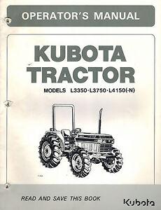 Kubota L3750 Tractor Operators Manual Patio, Lawn & Garden Farm ...