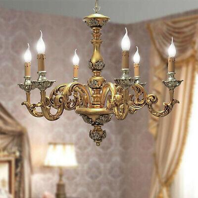 Applique parete legno Artistico classico 2 luci foglia oro argento modello AGATA