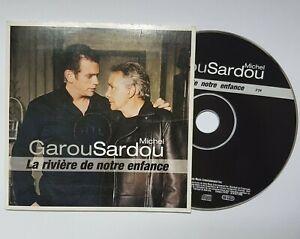 GAROU-amp-MICHEL-SARDOU-CD-PROMO-LA-RIVIERE-DE-NOTRE-ENFANCE