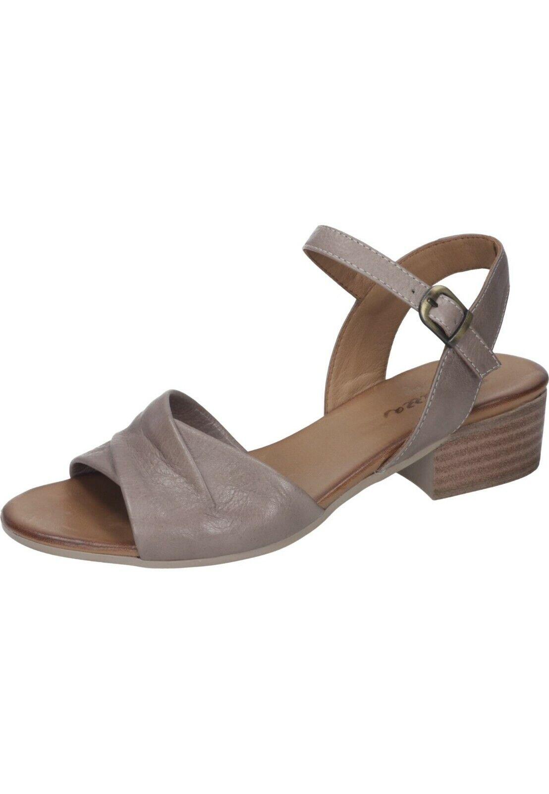 Piazza Sandalen Leder Sandaletten Sommer Damenschuhe taupe 36 - 42 910853-8 Neu1