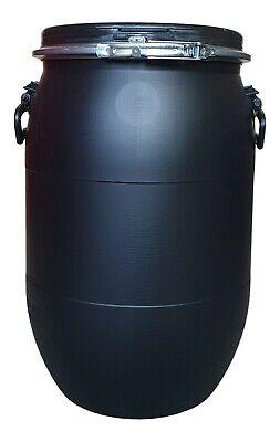 schwarz! 60L Kunststofffass Deckelfass Gepäcktonne Gefäß neu