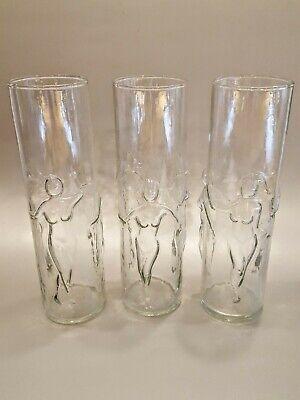 "Tiki Mug Libbey La Femme Cocktail Drink Glass Nude 3D Lady Woman 8.75"" Tall"