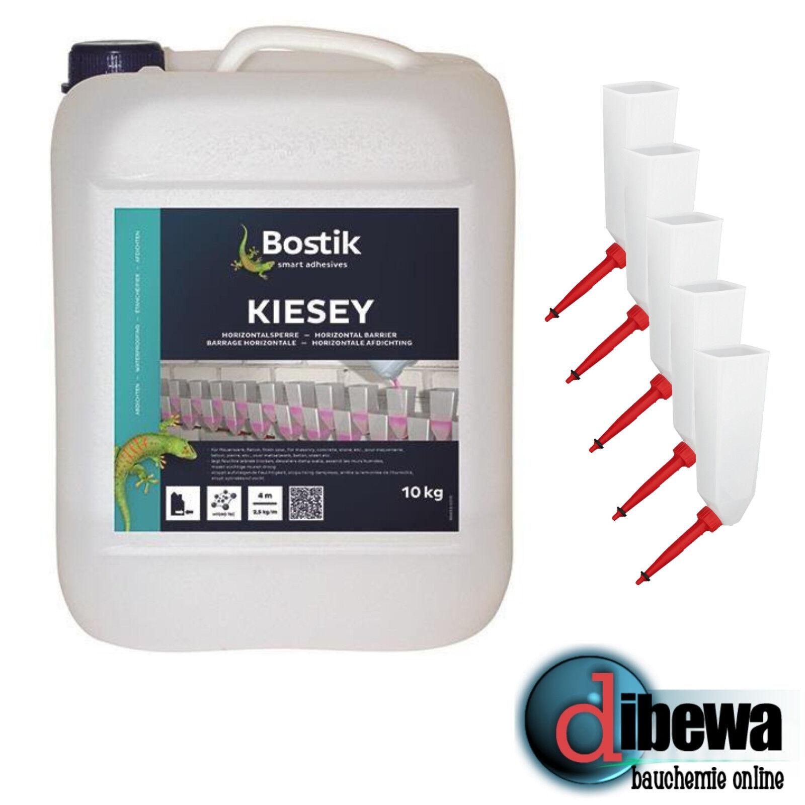 10 KG Bostik Kiesey Horizontalsperre + 5 Injektionstrichter