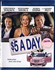 NEW BLU-RAY // $5 A Day //  Christopher Walken, Alessandro Nivola, Sharon Stone,