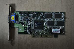 Cardexpert S3 Trio 3D ICUVGA-GW802C AGP 4 MB PC Computer NDE3BB 86C365 9823
