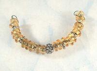 Lgl Handmade Lampwork Beads - Amber - Spacer - Sra - Diy - Artist - Glass Craft