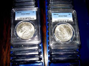 PCGS-MS62-Blast-White-Morgan-Silver-Dollar-U-S-Mint-Coin
