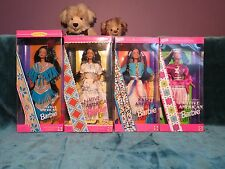 Native American Indian Barbie Doll Bambole del Mondo LOTTO nuovo con scatola mai tolto dalla scatola da collezione