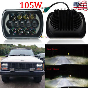 """newest brightest 105w 7x6"""" 5x7"""" led headlight drl for chevrolet jeep"""