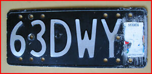 Vintage New Zealand License Or Registration Plate For Motor Bike 1963 Ebay