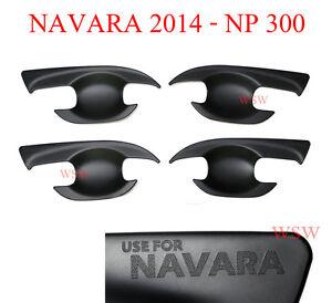 Carbon CARBON BLACK BOWL INSERT DOOR COVER FITS NISSAN NAVARA NP300 D23 2015