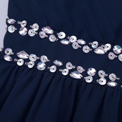 Filles Mousseline Paillettes Fleur Fille Robe De Mariage Demoiselle d/'honneur Pageant Parti robe