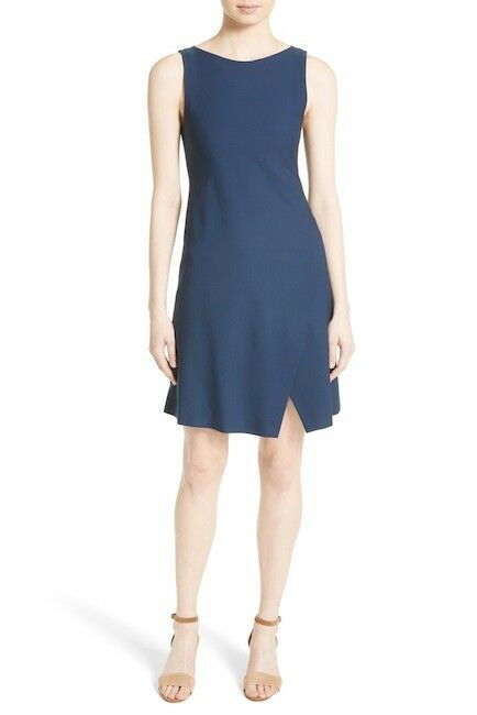 NEW Nordstrom damen Größe Large Theory Risbana New Stretch Wool Dress Blau