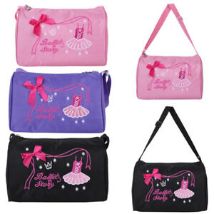 Kids Girl Ballet Dance Hand Bag Shoulder Duffel Storage Luggage ... 31a59bc702