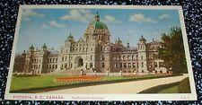 The Parliament Buildings Victoria B.C. Postcard, Canada