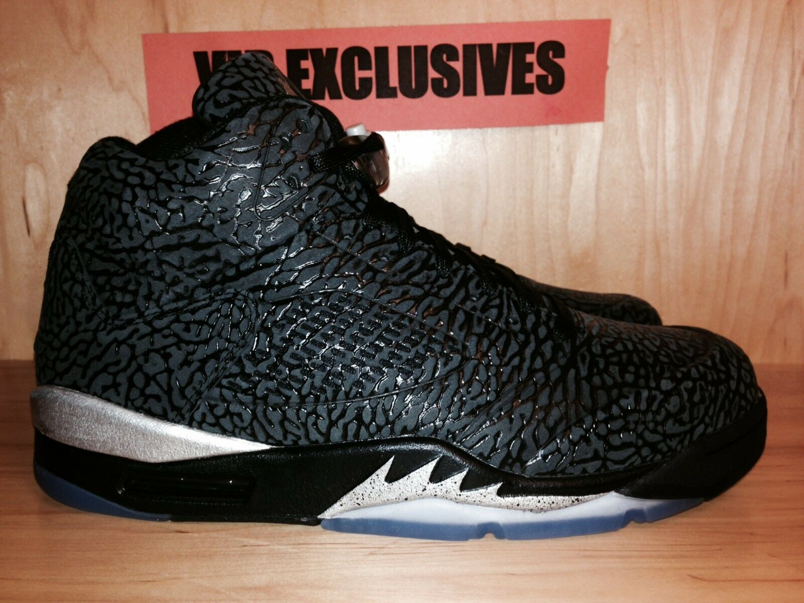 NIKE AIR METALLIC JORDAN RETRO 3LAB5 BLACK METALLIC AIR SILVER 599581-003 VERY TRUSTED SELLER fd5abc