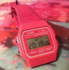 Retro Genuine Casio F-91W Resin Classic Retro Digital Watch Alarm Stopwatch Pink