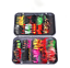 100Pcs//Box Trout Fly Fishing Flies Wet Dry Lure Baits Tackle Hooks Set 87g