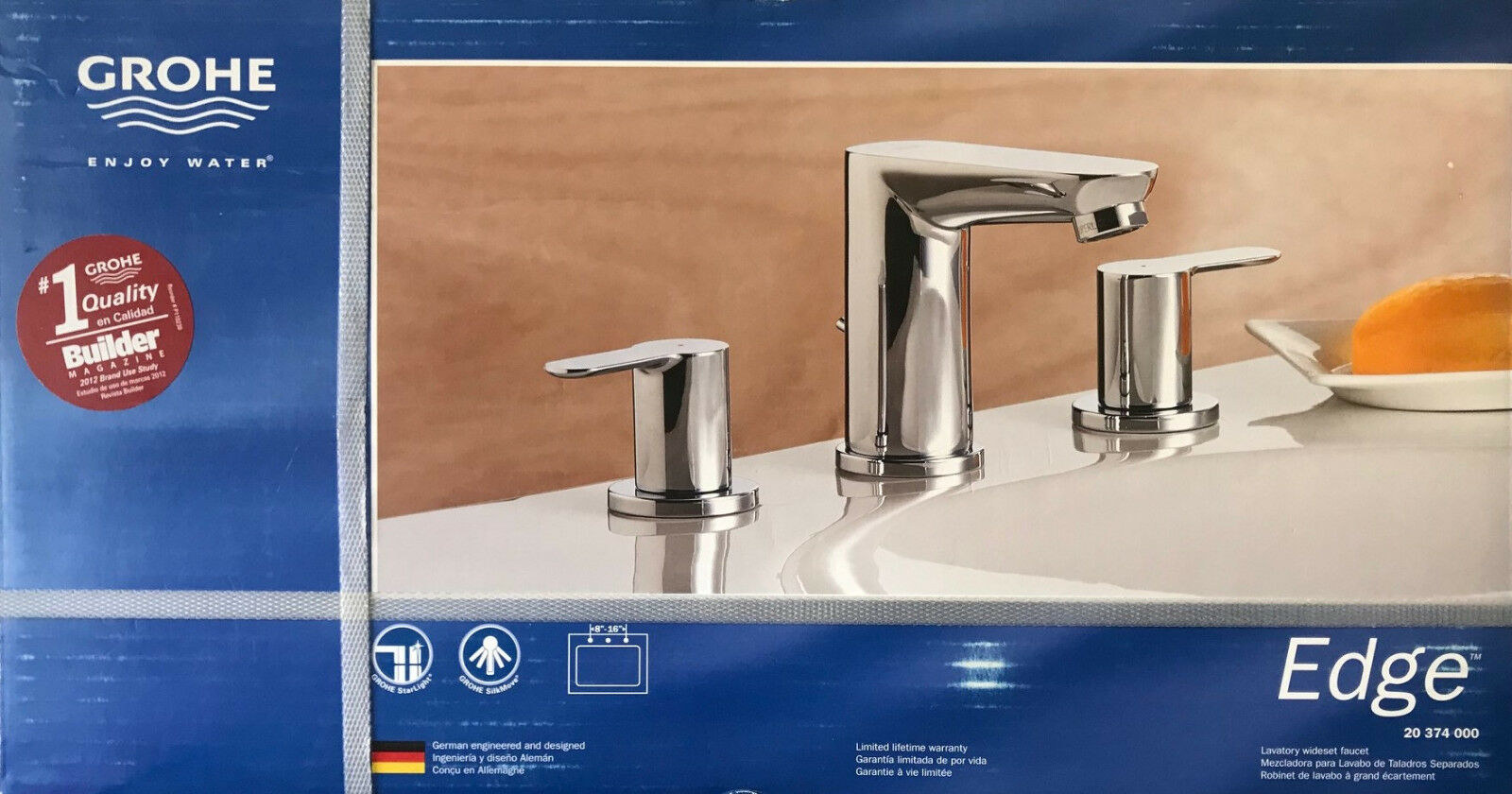 GROHE Edge Lavatory Wideset Faucet Chrome 20374000 | eBay