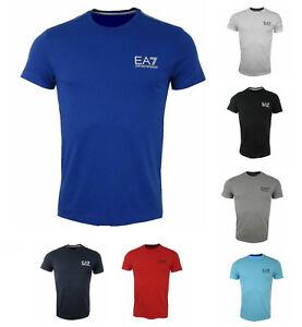 EMPORIO-ARMANI-EA7-Herren-Men-T-Shirt-NEU-NEW-Sommer-Rot-Grau-Blau-Schwarz-Weiss