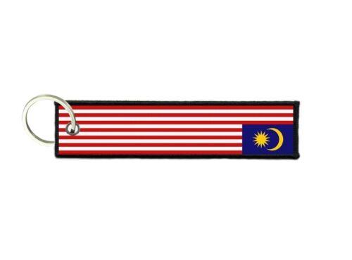 Port cles clef cle homme femme tissu brode imprime drapeau Malaisie malaysien
