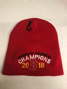 a7c7e60927d5b Boston Red Sox World Series Champions Red Beanie Winter Hat Scull ...